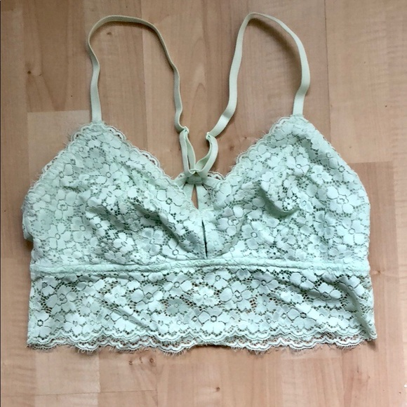 064d8b8db2ef4 aerie Other - Aerie Lime Green Lace Bralette